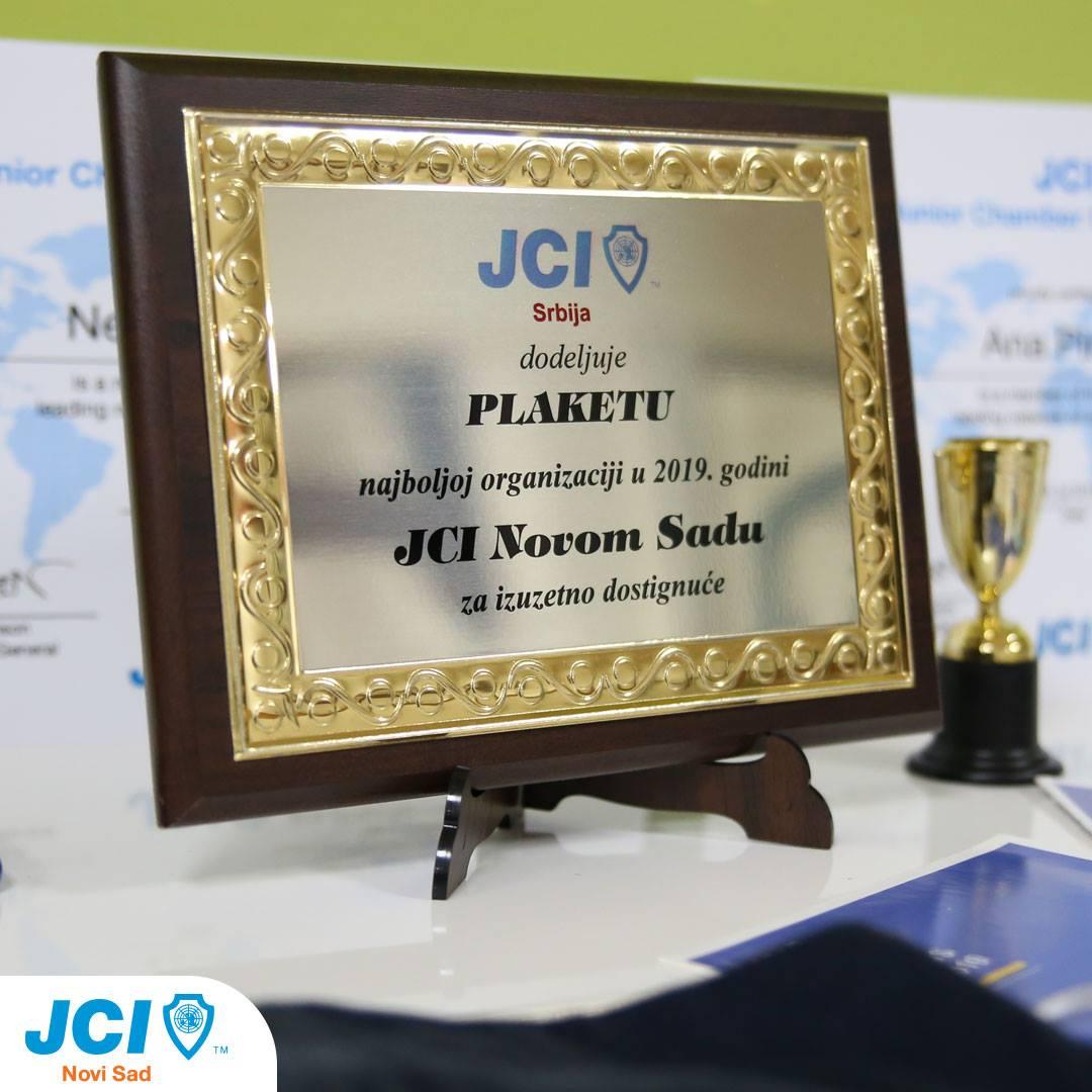JCI Novi Sad – Priznanje za najbolju lokalnu organizaciju u 2019. godini